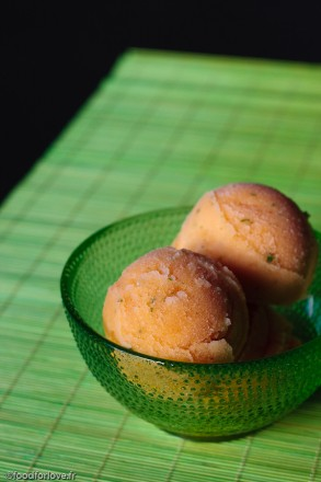 sorbet melon peche menthe