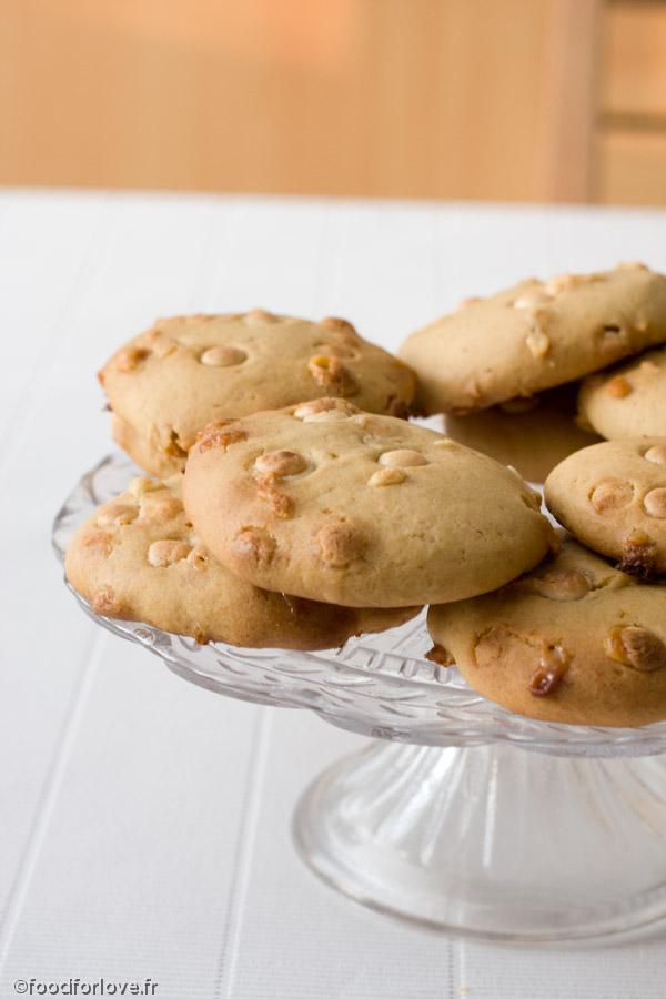 cookies bananes chocolat blanc food for love. Black Bedroom Furniture Sets. Home Design Ideas