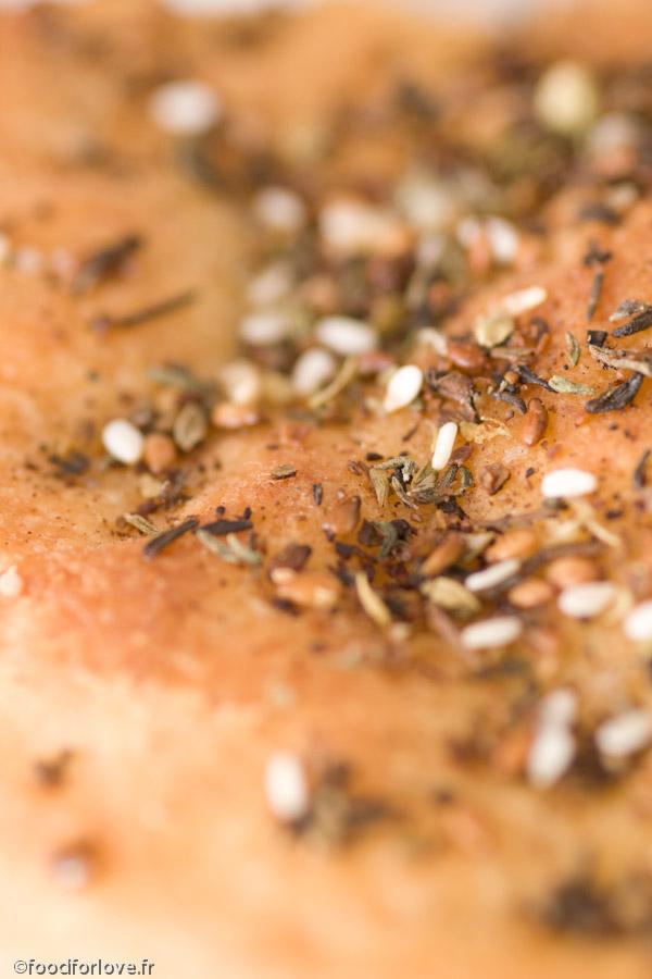 Galettes de pain au zaatar mana ches food for love - Livre cuisine libanaise ...
