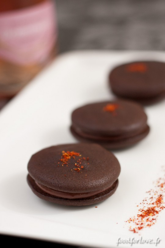 Whoopies Chocolat, Framboises et Piment dEspelette