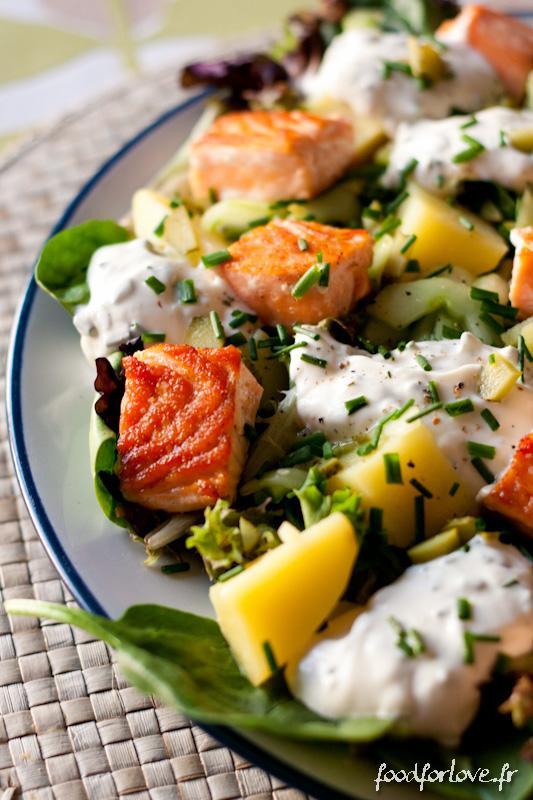 salade au saumon pommes de terre et concombre marin food for love. Black Bedroom Furniture Sets. Home Design Ideas