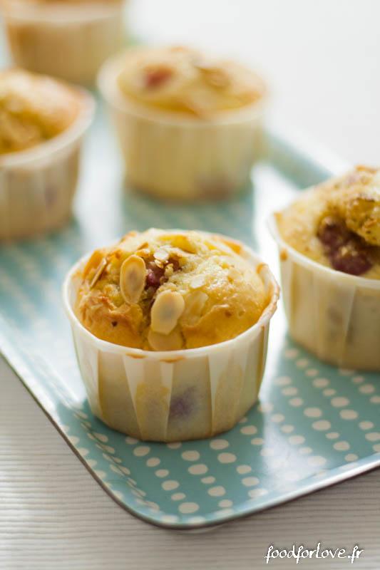 muffins cerise citron amande sans beurre-4