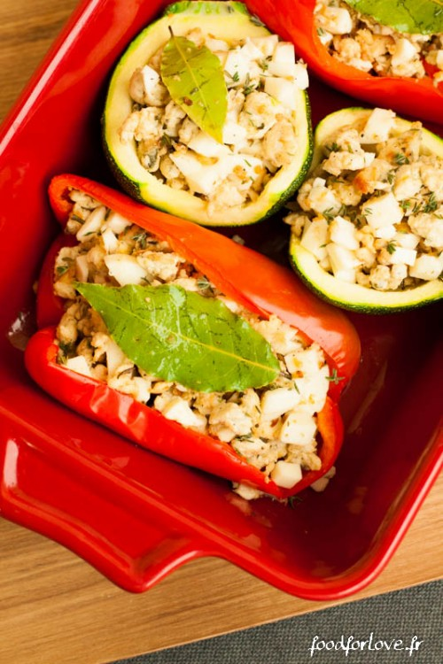 legumes farcis poulet mozza thym romarin-3