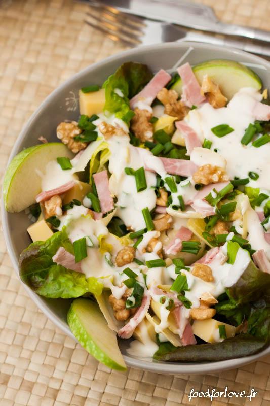 salade endive jambon noix pomme