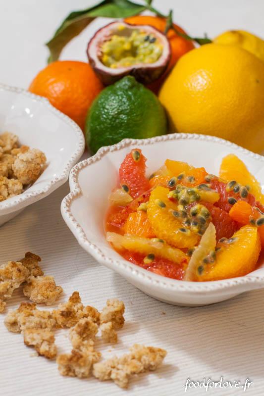 salade agrumes crumble coco contrex 2-4
