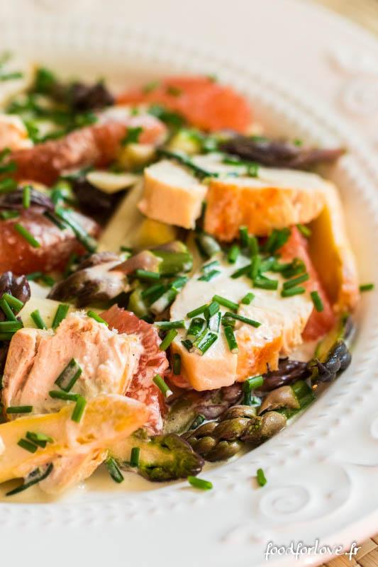 salade asperges crues poulet pamplemousse