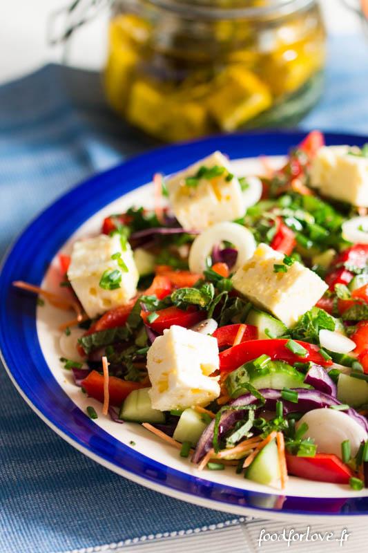 feta marinee salade composee-8
