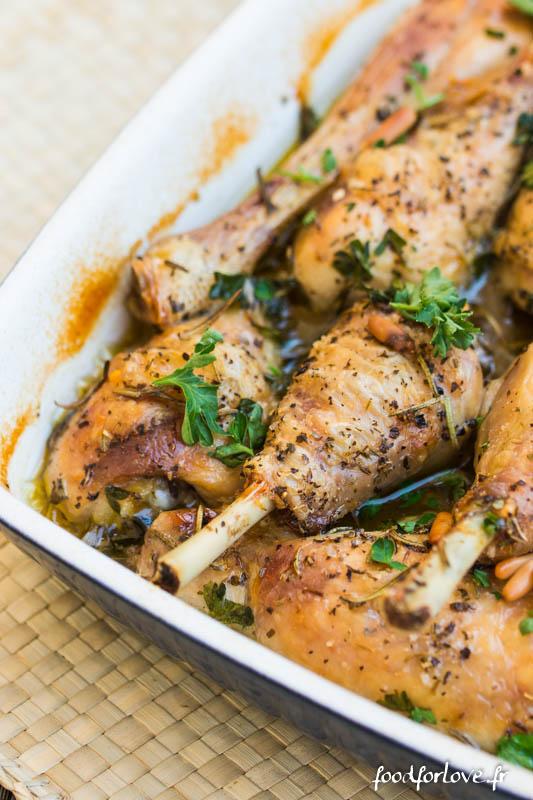 poulet romarin origan pignons-3