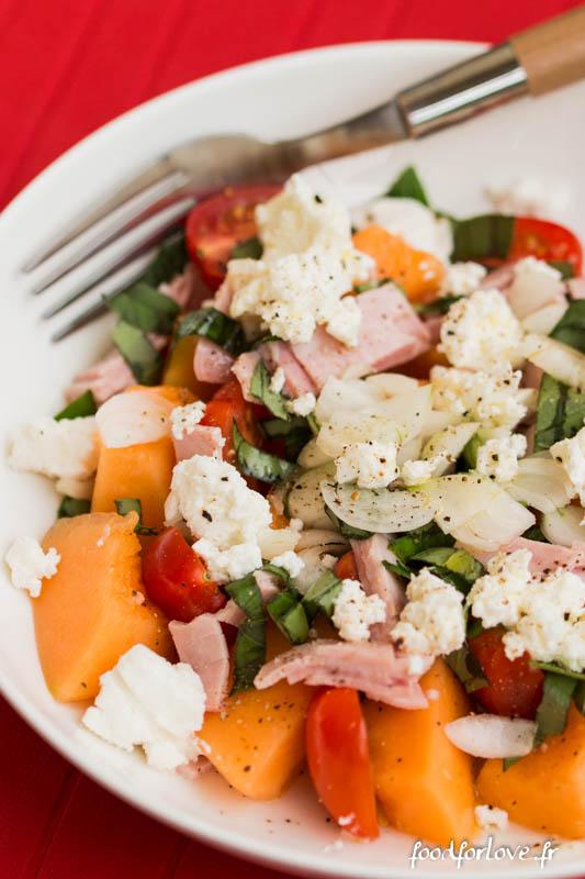 salade melon jambon basilic carre frais-6