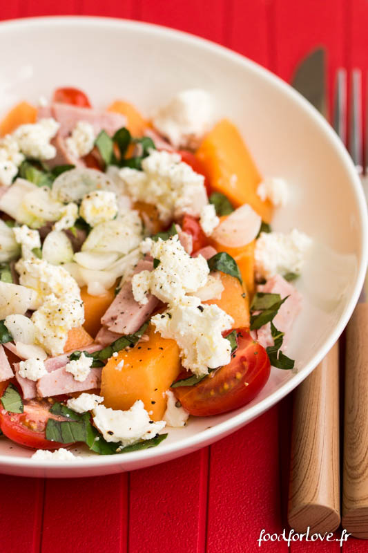 salade melon jambon basilic carre frais