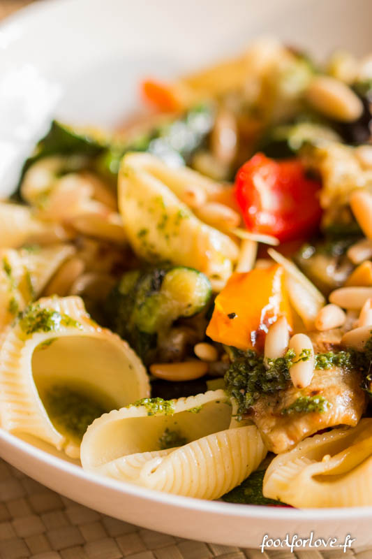 salade pates legumes grilles pesto pignons-3