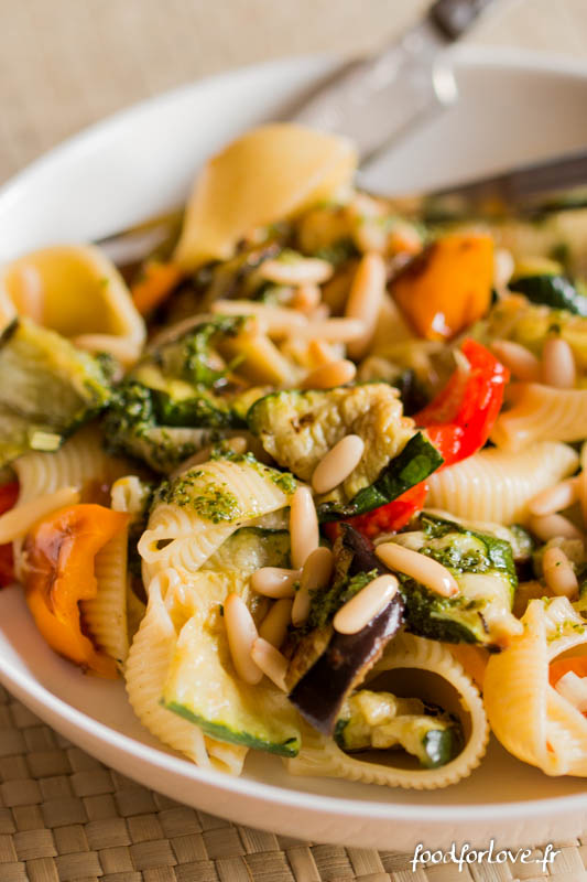 salade pates legumes grilles pesto pignons-7