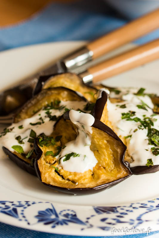 aubergines grillees yaourt aux herbes-4
