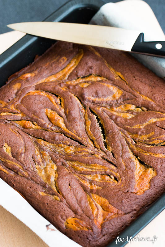 brownies marbres cacahuete banane-2