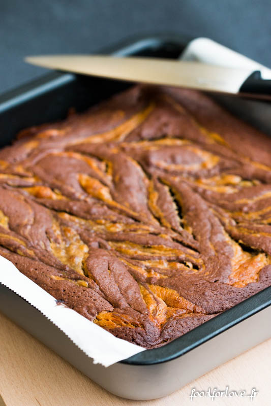 brownies marbres cacahuete banane