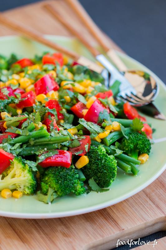 Salade brocolis mais haricots poivron-2