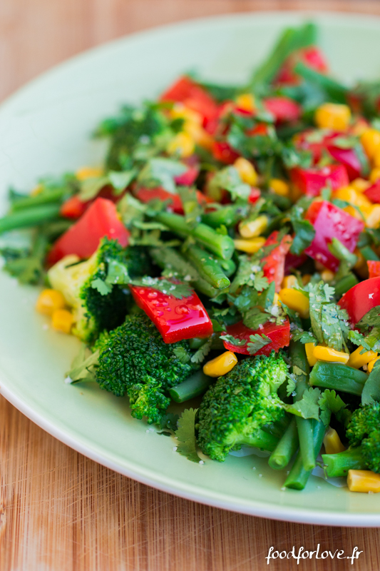 Salade brocolis mais haricots poivron-9