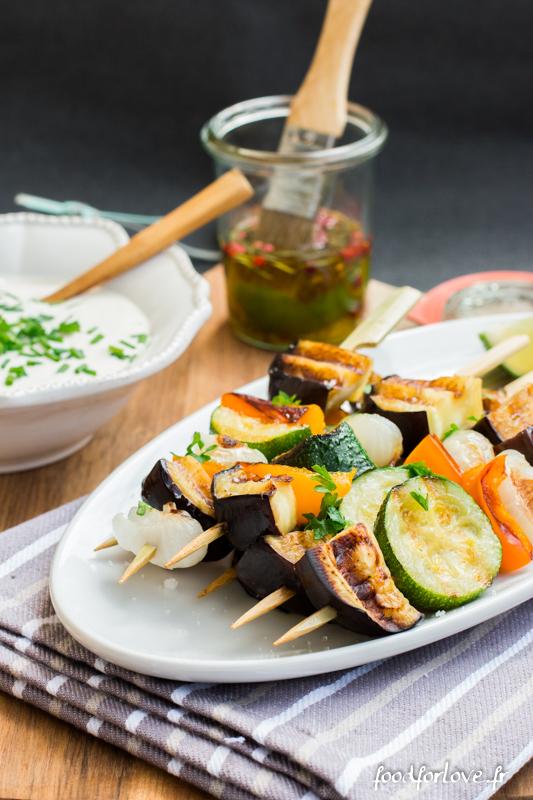 brochettes legumes sauce tahin