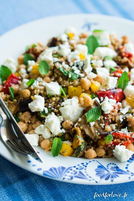 salade boulgour legumes grilles pois chiche feta menthe-3
