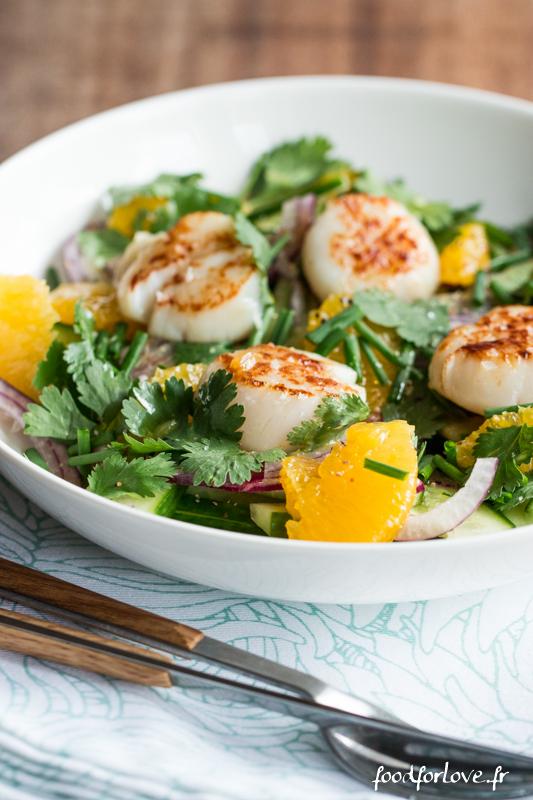 salade st jacques concombre orange coriandre oignon-8