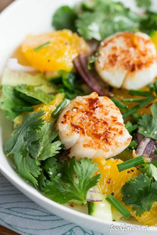 salade st jacques concombre orange coriandre oignon-9
