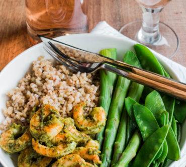 Assiette Complète aux Crevettes