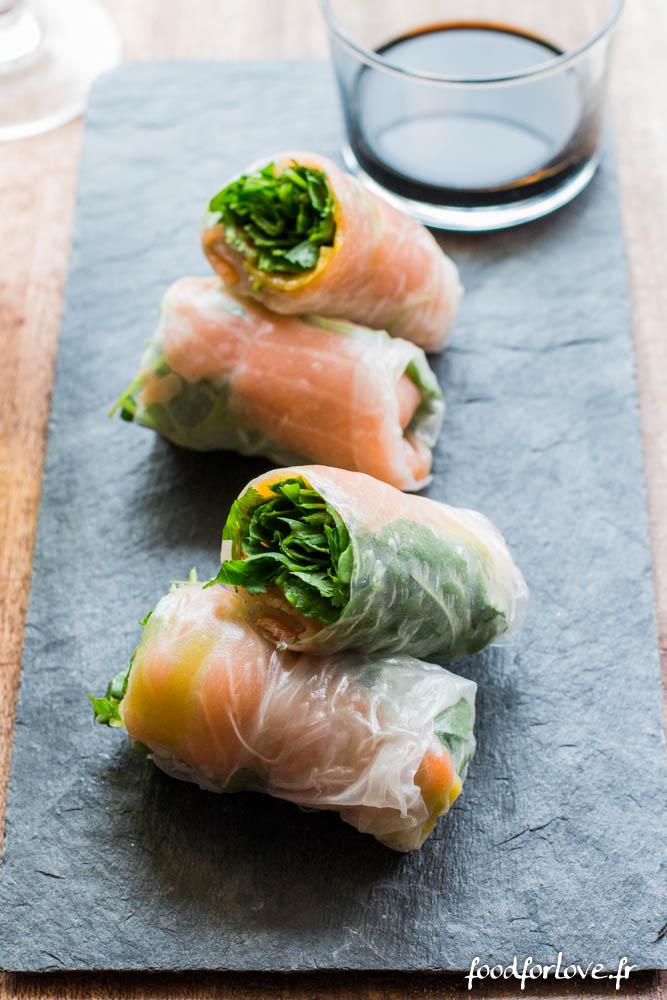 rouleaux printemps mangue saumon avocat roquette vinadeis (2 sur 9)