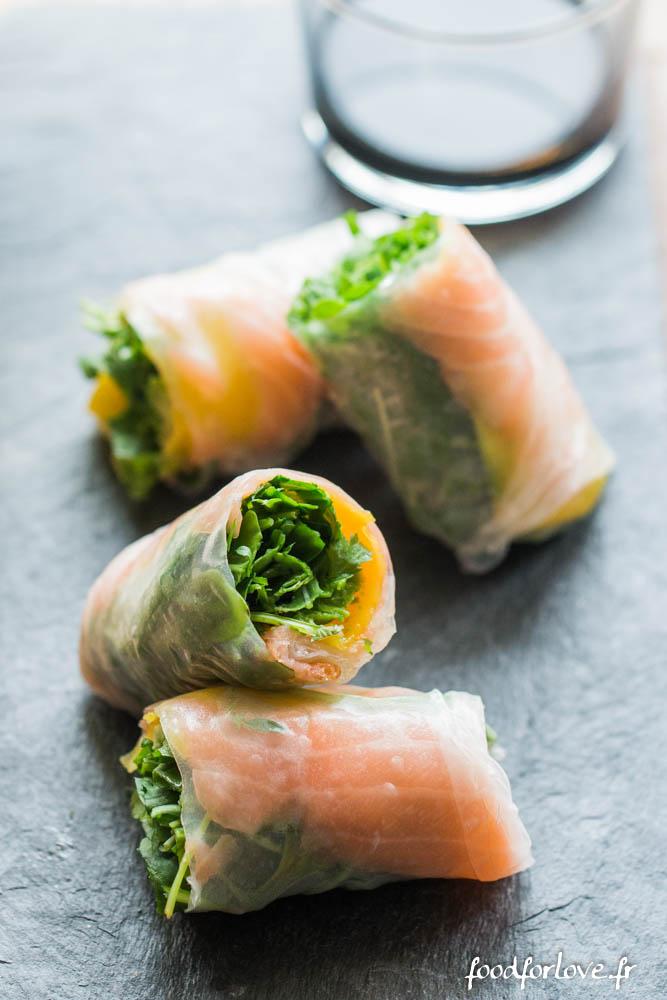 rouleaux printemps mangue saumon avocat roquette vinadeis (7 sur 9)
