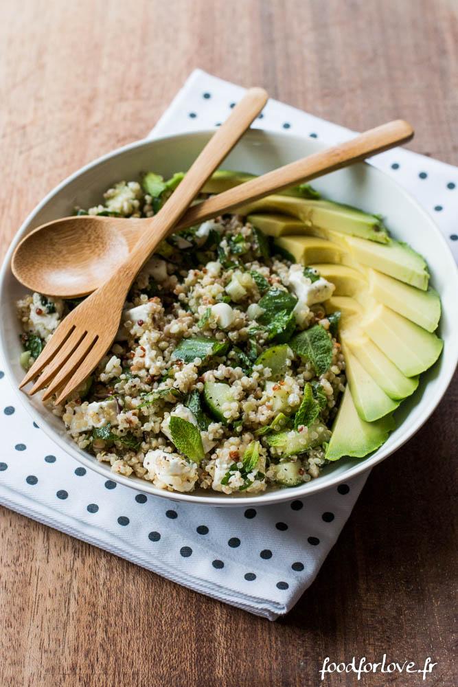 salade quinoa concombre feta menthe avocat (14 sur 16)