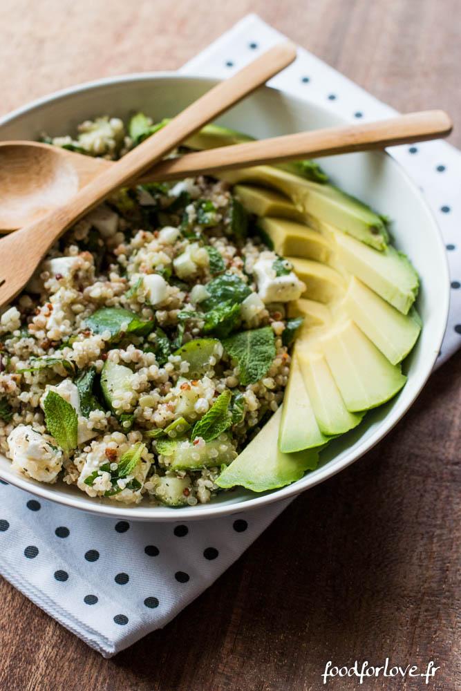 salade quinoa concombre feta menthe avocat (15 sur 16)