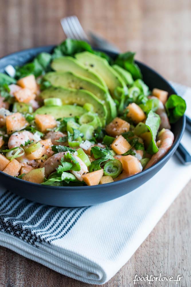 salade melon avocat crevette coriandre (1 sur 7)