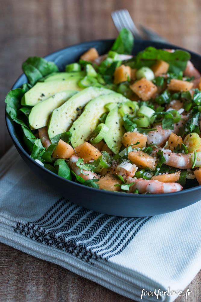 salade melon avocat crevette coriandre (2 sur 7)