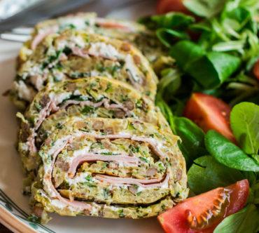 Roulé Hyperprotéiné aux Lentilles, Quinoa, Courgette et Farine de Pois Chiches