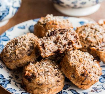 Muffins Banane Chocolat Coco et Sarrasin, Sans Sucre Ajouté, Sans Gluten, Sans lactose