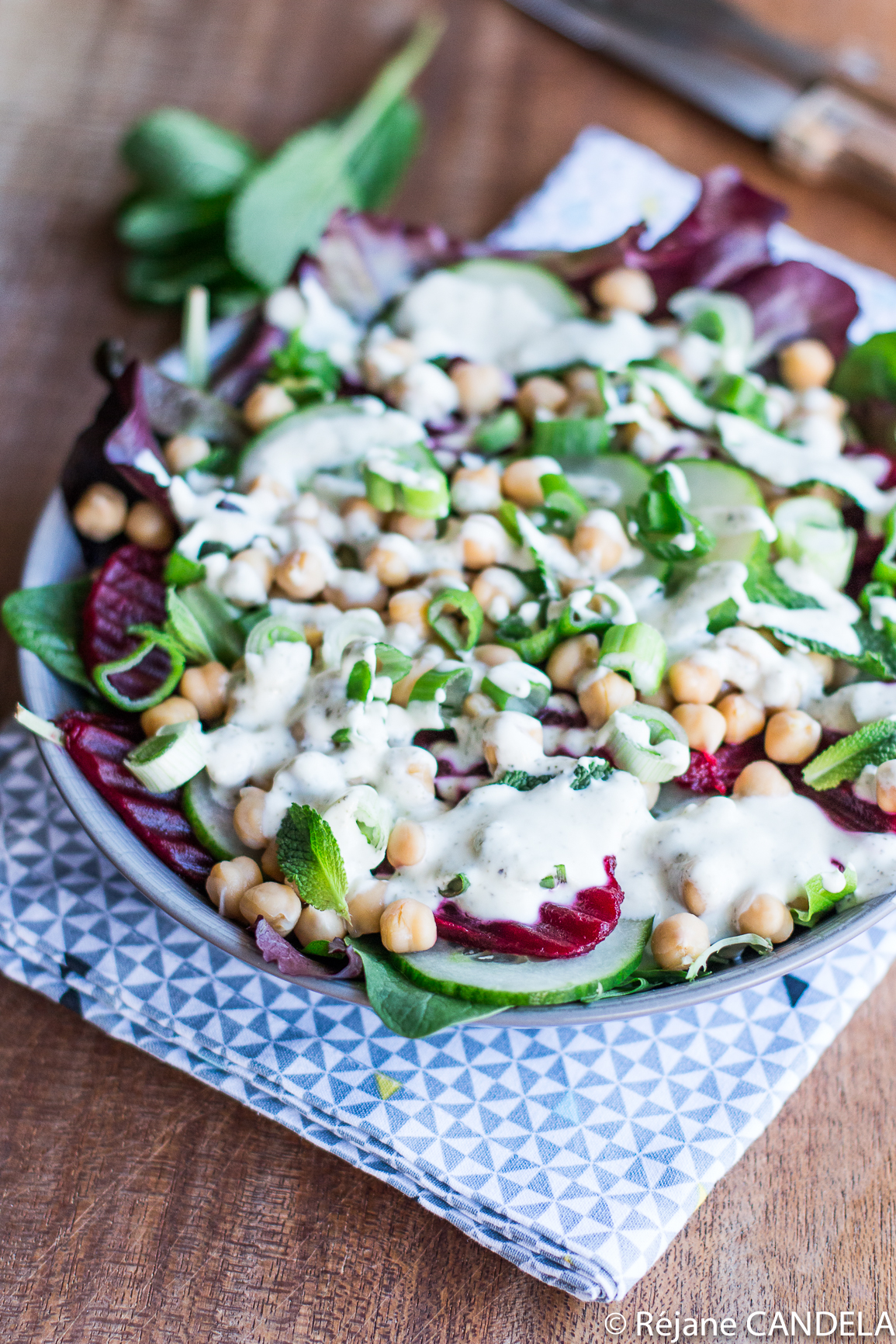 SALADE BETTERAVE POIS CHICHES CHEVRE MENTHE-12