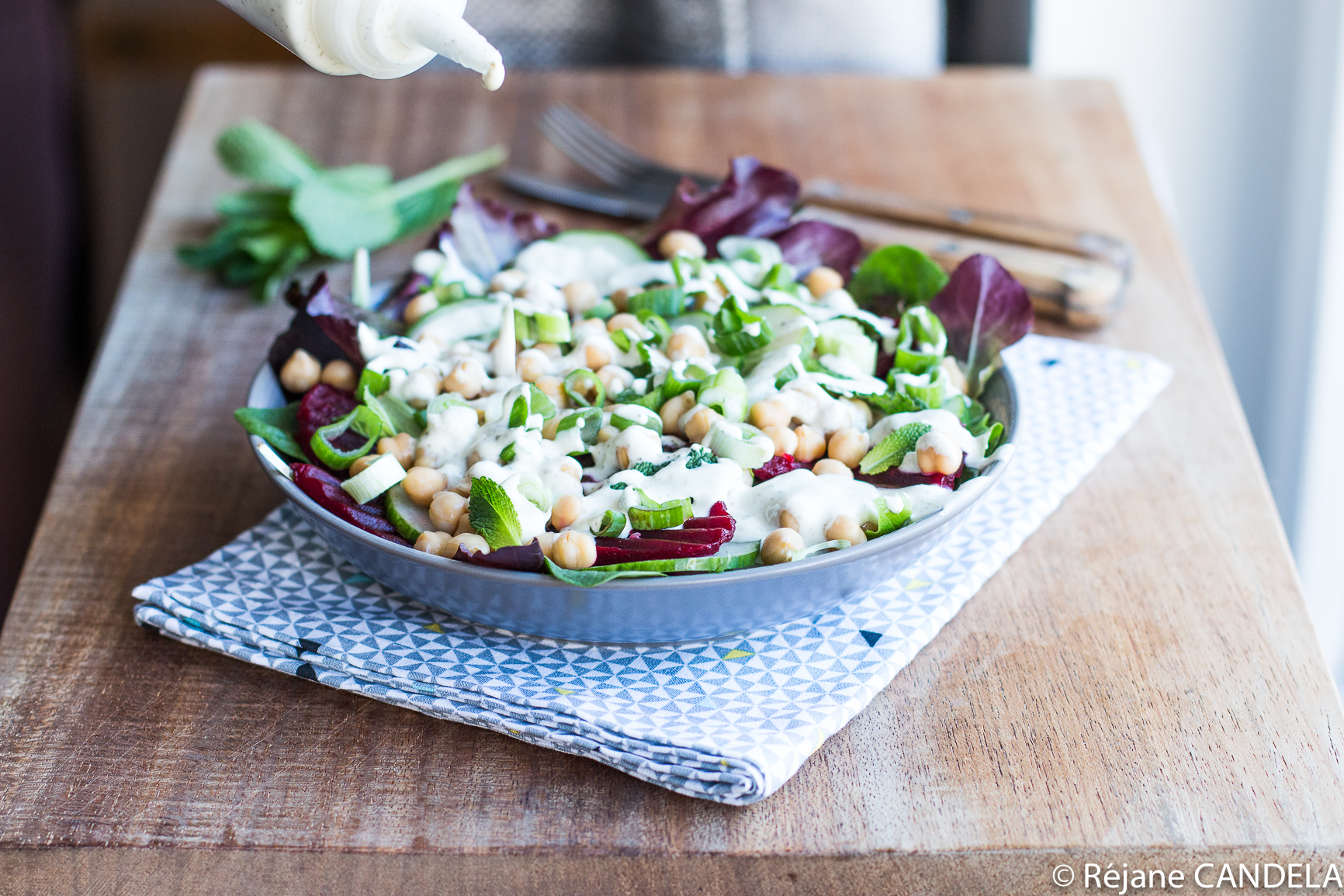 SALADE BETTERAVE POIS CHICHES CHEVRE MENTHE-6
