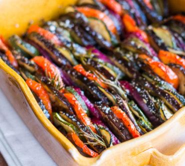 Tian de Légumes au Pesto & au Romarin