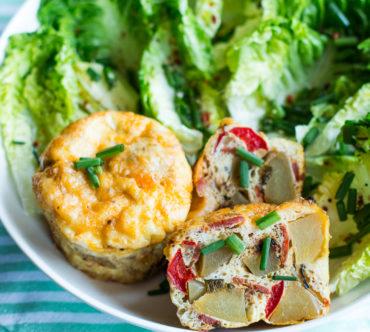 Mini Tortilla aux Pommes de terre, Poivrons & Chorizo