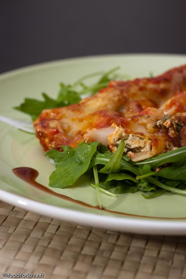 Cannelloni ricotta et roquette sauce marinara food for love - Cuisine italienne cannelloni ...