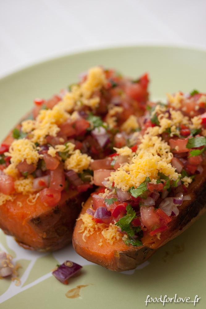 Patates douces r ties salsa la mexicaine et sauce la - Quand recolter les patates douces ...