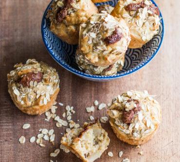 Muffins aux Fruits, à l'Avoine & au Chocolat, Sans Sucre Ajouté
